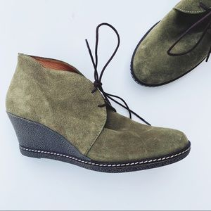 Donald J. Pliner Green Harmony Suede Ankle Boots
